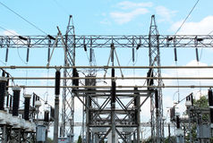 Electrical power station Royalty Free Stock Image