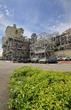 Electrical Power Station. Picture of combined cycle electrical power station during day time Royalty Free Stock Images