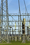 Electrical power station with sky Royalty Free Stock Images