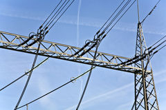 Electrical power station with sky Stock Photography