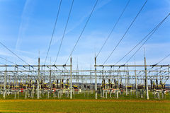 Electrical power station with sky Stock Photos