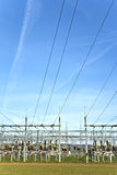 Electrical power station with sky Royalty Free Stock Image