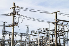 Electrical power station. At thailand Royalty Free Stock Images