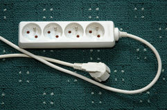 Electrical power strip Royalty Free Stock Photos