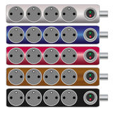 Electrical power strip - set of vectors Royalty Free Stock Photo