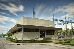 Electrical Power Substation Control House Stock Image