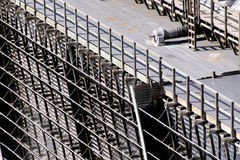 Electrical power substation, transformers, insulators Stock Image