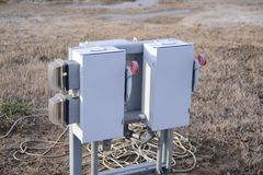 Electrical Power Switch-box Royalty Free Stock Image