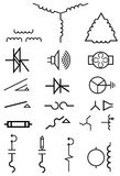 Electrical power symbols Stock Images