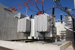 Electrical power transformer Stock Image