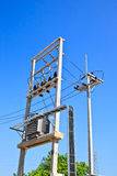 Electrical power transformer in high voltage Stock Photos