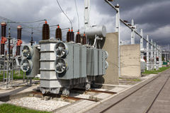 Electrical power transformer Royalty Free Stock Photos