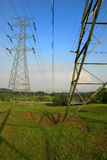 Electrical Power Transmission Lines Stock Photo