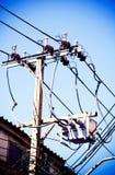 Electrical powered pillar In Bangkok, Thailand Stock Photo