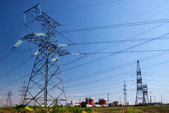 Electrical powerlines Stock Images
