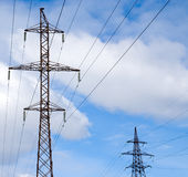 Electrical powerlines Stock Image