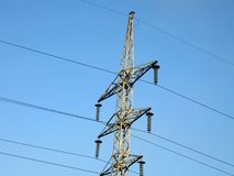 Electrical powerlines (electricity pylons), sky Stock Image