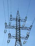 Electrical powerlines (electricity pylons), wires Stock Photos