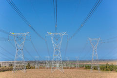 Electrical Powerlines Towers Royalty Free Stock Photos