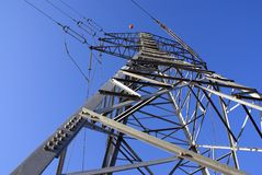 Electrical pylon. Transfer of an electric energy Stock Image