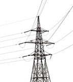 Electrical pylon isolated on white background Royalty Free Stock Image