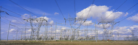 Electrical pylons Stock Photography