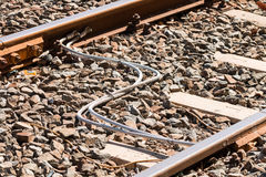 Electrical rail connections Stock Image