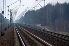 Electrical Rail Road Tracks Stock Photo