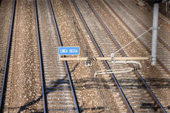 Electrical railway line Royalty Free Stock Photos