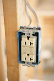 Electrical Receptacle Closeup Stock Image