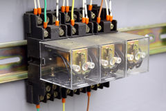 Electrical relays Stock Photo
