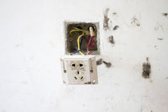 Electrical renovation work, Light plug Royalty Free Stock Image