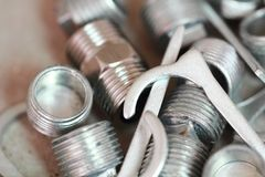 Electrical renovation work, Nuts and bolts Royalty Free Stock Photo