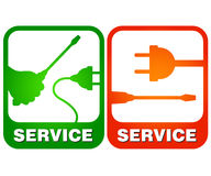 Electrical repairs. Repair of electrical equipment and wiring for the vector Royalty Free Stock Images