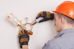 Electrical repairs sconce Royalty Free Stock Photo