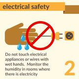 Electrical Safety and Health icons and signs set. Occupational Safety and Health vector icons and signs set. Electrical safety vector illustration