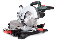 Electrical saw with circular blade Royalty Free Stock Photo
