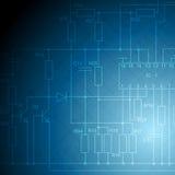 Electrical scheme tech vector background Stock Photography