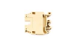 Electrical screw terminal block Stock Image