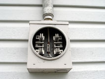 Electrical Service On House Stock Photo
