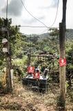 Electrical setup in Amedzofe, Volta Region, Ghana Stock Photos