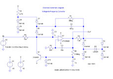Electrical shematic diagram Royalty Free Stock Images