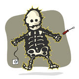 Electrical shock. A man with an electric shock Royalty Free Stock Images