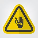 Electrical Shock Electrocution Symbol Sign Isolate On White Background,Vector Illustration royalty free stock photos
