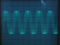 Electrical signals. Displayed on the screen of an oscilloscope Stock Photography
