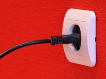 Electrical socket stock photo