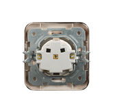 Electrical socket isolated Stock Photo