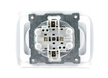 Electrical socket isolated Stock Image