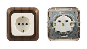 Electrical socket isolated Royalty Free Stock Photos