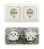 Electrical socket isolated Stock Images